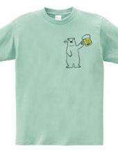 ビール好きなシロクマさん