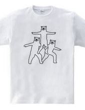 クマの組体操 #4