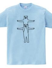 クマの組体操 #5
