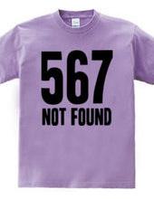 567 NOT FOUND