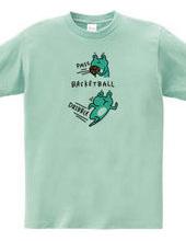 バスケットボール カエルの中とドリブル