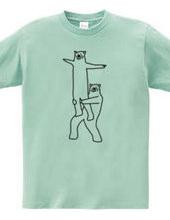 クマの組体操 #10