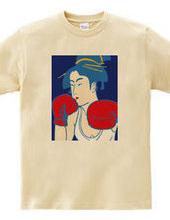 浮世絵美人拳闘家