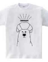 クロワッサンをのっけられたクマ