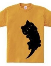 かまって黒猫