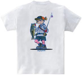 釣りガール(バックプリント)