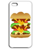 シンプルなハンバーガーのフォンケース