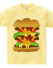 シンプルなハンバーガーのTシャツ