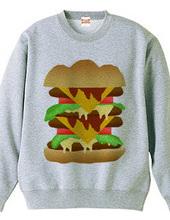 シンプルなハンバーガーのスウェット