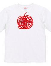 a brush-writing apple