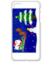 サンタクロースとクリスマスツリー(横)