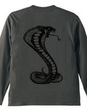 背中にコブラ(バックプリント)