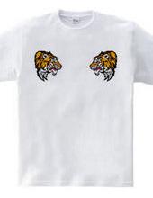 向かい合う2匹の虎