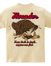 Flounder Fishing (Back Print)