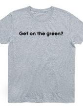 ゴルフ グリーンに乗った?