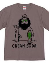 ひげクリームソーダ
