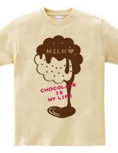 CT98 CHOCOKATE IS MY LIFE *MILK丸形*B