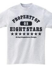 【EIGHT STARS】カレッジTシャツ