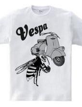 Vespa乗り(モノクロ)