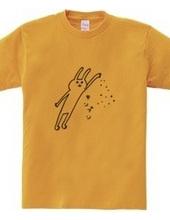 ウサギの手から金粉