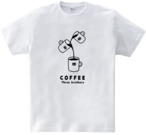 コーヒー三兄弟 イラスト