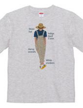 麦わら帽の青年とアイテムロゴ