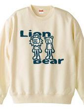 ライオンとクマ(青)