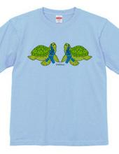 ありえな〜い けど ありえる〜 ウミのゴミ  ペットボトルの涙をながすウミガメ ©︎仔羊エルマーTシャツ