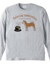 日本のお茶と犬