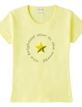 世界で一番輝く星(ゴールド)