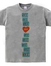 カセットテープTシャツ-青い縦長