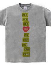 カセットテープTシャツ-縦長
