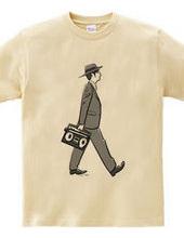 カセットテープTシャツ-ビジネスマン
