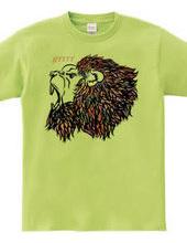 吼えるライオン
