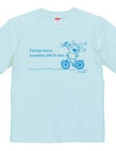 鶴と自転車