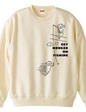 魚釣りをする魚