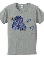トイプードルとステンドグラスハートのピアノ