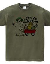キャンプに行くシロクマさん