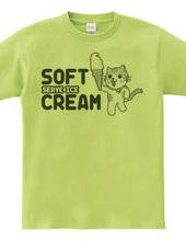 ソフトクリームにゃんこ