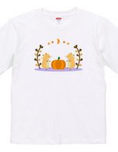 キツネとかぼちゃのハロウィン