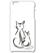 先住猫と新米猫(iPhone ケース)