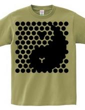 太極図Tシャツ-dot-