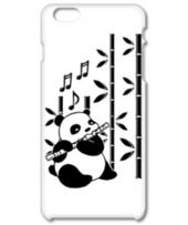 バンブーフルートを演奏するかわいいパンダのクマ