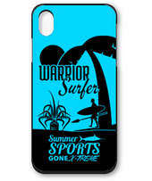Warrior Surfer Silhouette Design