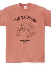 やさしい世界(ネコとスピノサウルス)