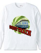 道路を走る電車