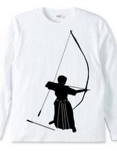 弓道シルエット(男性)と正射必中